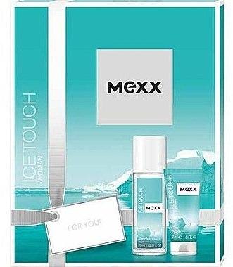Duftset - Mexx Ice Touch Woman Set (Körperspray 75ml + Duschgel 50ml) — Bild N1