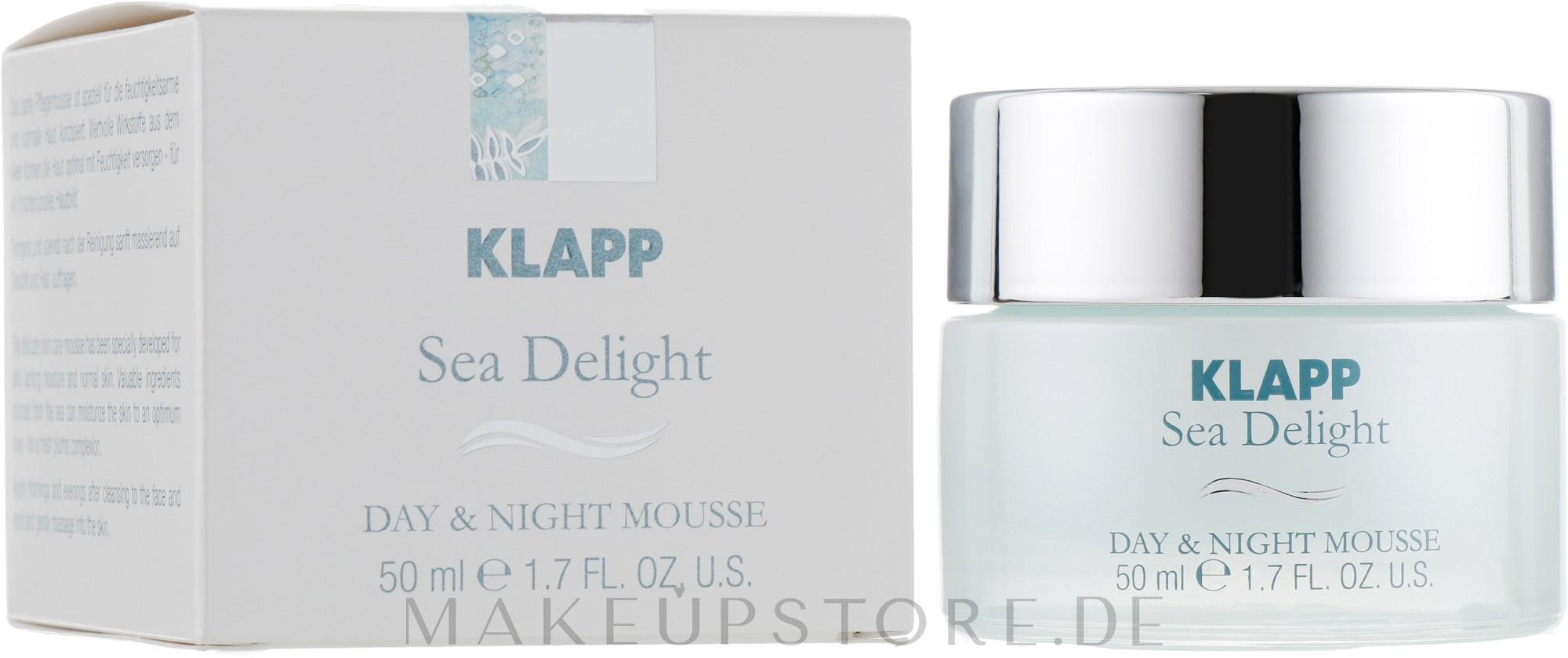 Pflegende Gesichtsmousse für Tag und Nacht mit Algen - Klapp Sea Delight Day & Night Mousse — Bild 50 ml