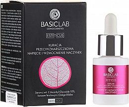Düfte, Parfümerie und Kosmetik Gesichtsserum zur Stärkung der Kapillaren mit Ascorbylglucosid und Ginkgo-Biloba-Extrakt - BasicLab Dermocosmetics Esteticus