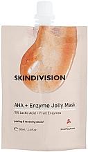 Düfte, Parfümerie und Kosmetik Gesichtsmaske mit Milchsäure und Fuit-Enzymen - SkinDivision AHA + Enzyme Jelly Mask