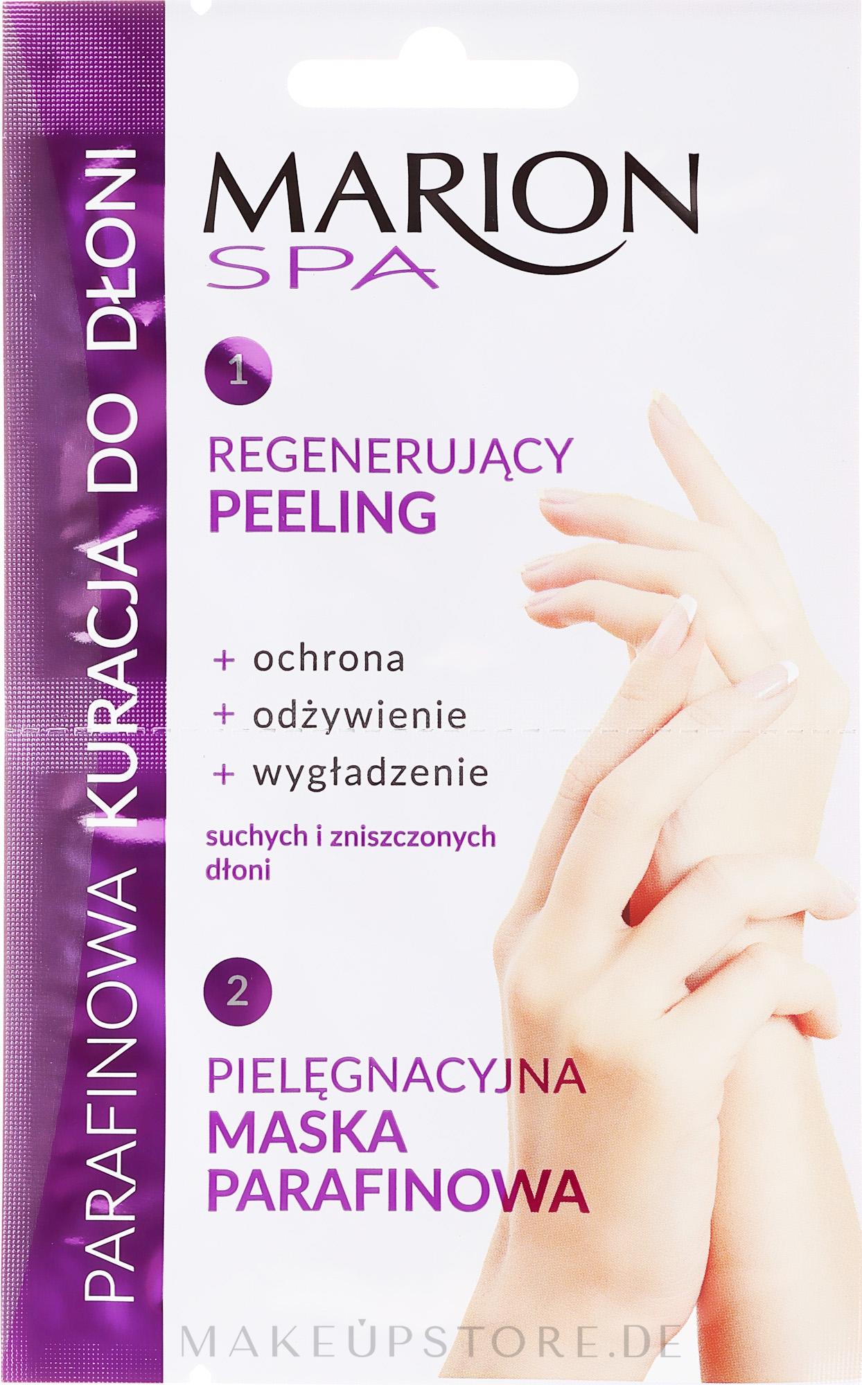 2in1 Peeling und Maske für Hände mit Paraffin - Marion SPA Mask — Bild 11 ml