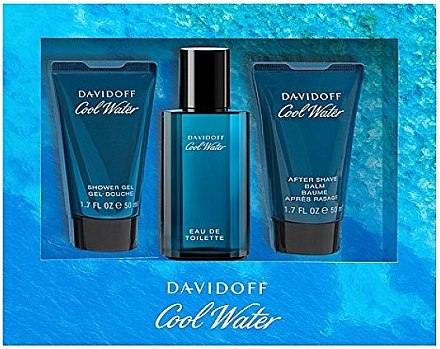 Davidoff Cool Water - Kosmetikset (Eau de Toilette/40ml + Duschgel/50ml + After Shave Balsam/50ml) — Bild N1