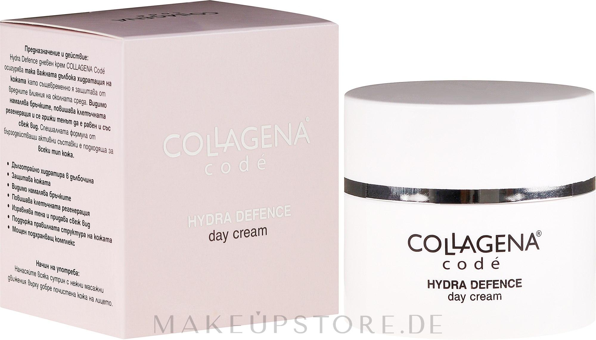 Antifalten Tagescreme mit Sheabutter und Mandelöl - Collagena Code Hydra Defence Day Cream — Bild 50 ml
