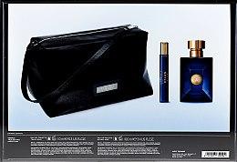 Versace Pour Homme Dylan Blue - Duftset (Eau de Toilette/100ml + Eau de Toilette/10ml + Kosmetiktasche) — Bild N2