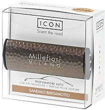 Düfte, Parfümerie und Kosmetik Auto-Lufterfrischer Sandalo Bergamotto - Millefiori Car Air Freshener Sandalo Bergamotto Icon Metall Shades Line