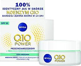 Düfte, Parfümerie und Kosmetik Anti-Falten-Feuchtigkeitscreme für Mischhaut - Nivea Visage Q10 Plus SPF15