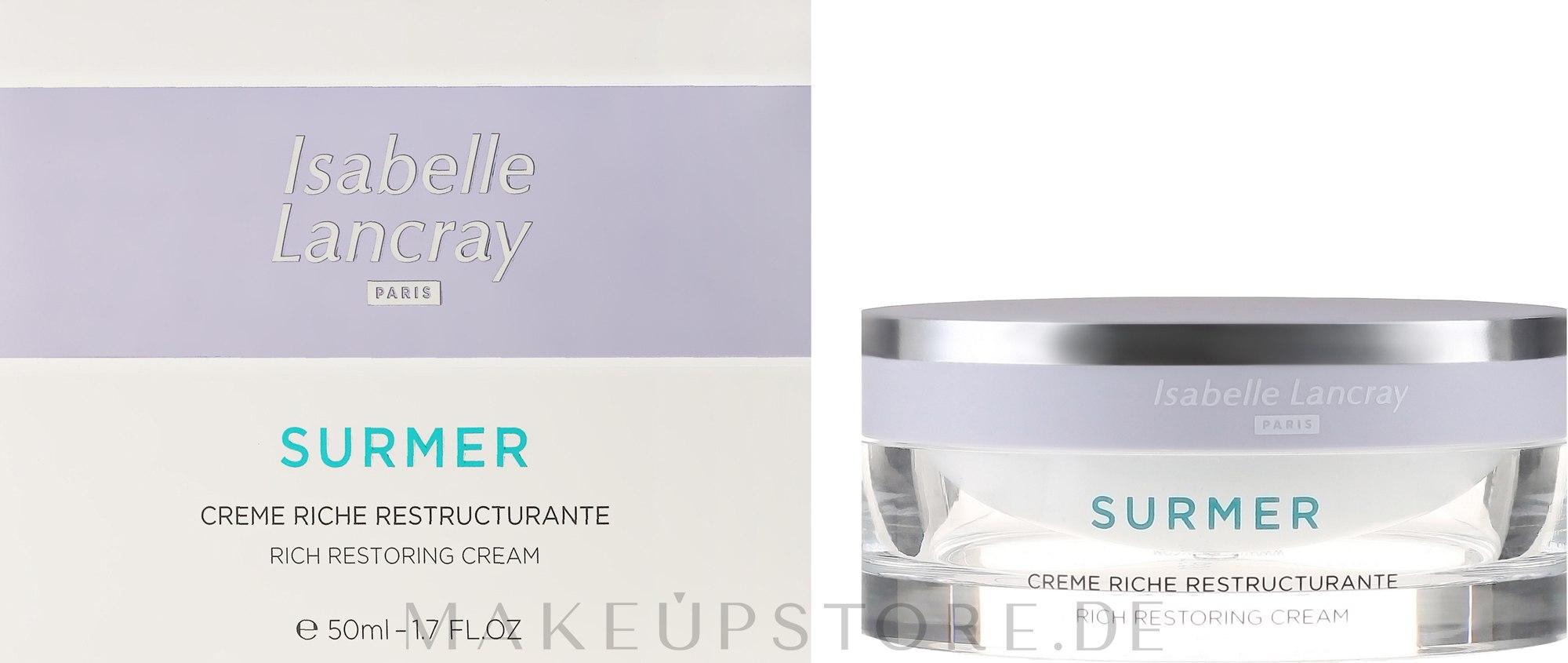 Reichhaltige reparierende Anti-Falten Gesichtscreme für sehr trockene Haut - Isabelle Lancray Surmer Rich Restoring Cream — Bild 50 ml