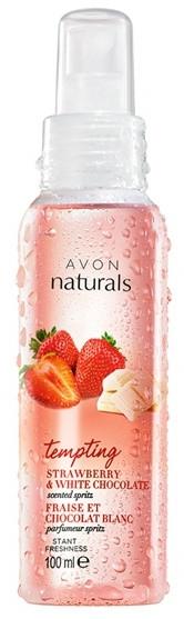 Körperspray Erdbeere & Weiße Schokolade - Avon Naturals — Bild N1