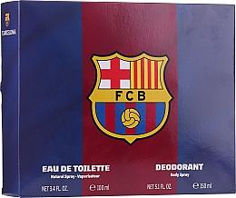 Düfte, Parfümerie und Kosmetik Air-Val International FC Barcelona - Duftset (Eau de Toilette 100ml + Deospray 150ml)