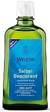 Düfte, Parfümerie und Kosmetik Salbei-Deodorant mit echten ätherischen Ölen - Weleda Sage Deodorant Refill Bottle (Nachfüllflasche)