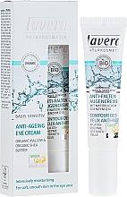 Anti-Falten Augencreme mit Bio-Malve, Bio Sheabutter und Coenzym Q10 - Lavera Basis Sensitiv Anti-Ageing Eye Cream Q10 — Bild N1