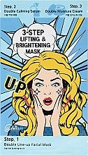 Düfte, Parfümerie und Kosmetik Gesichtsmaske in 3 Schritten mit Liftings- und Aufhellungseffekt - Purenskin 3-Step Lifting & Brightening Mask
