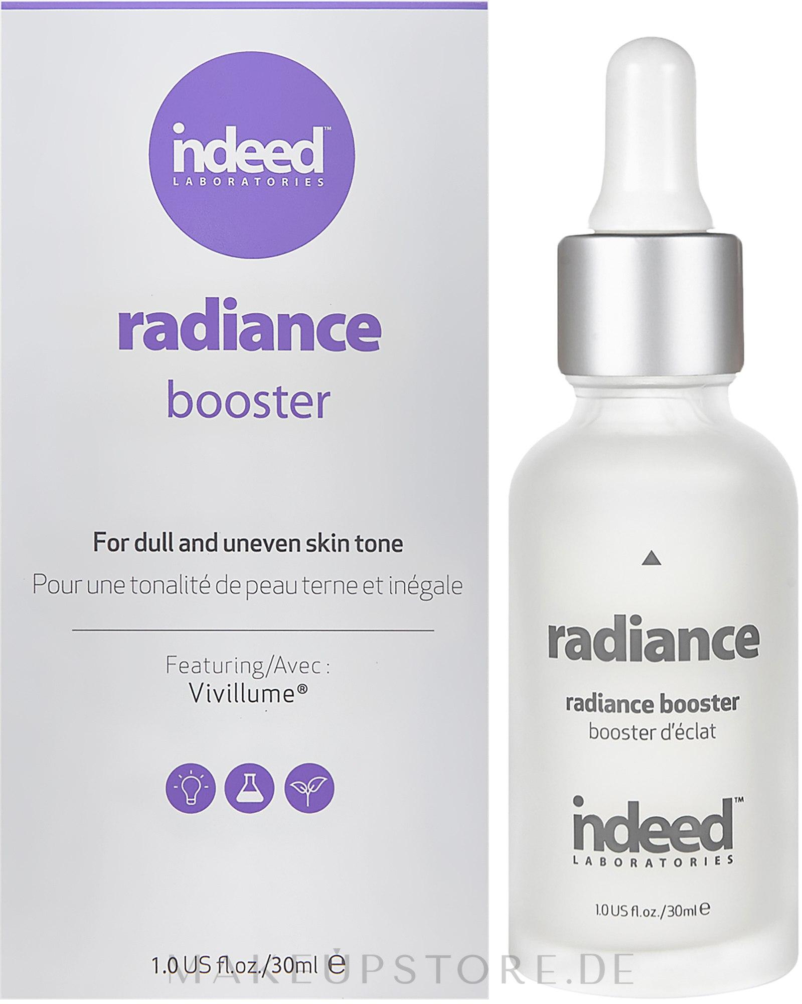 Gesichtsbooster mit Glanz-Effekt - Indeed Laboratories Radiance Booster — Bild 30 ml