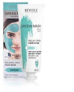Gesichtsmaske - Revuele Anti-Acne Green Face Mask Cryo Effect — Bild N1