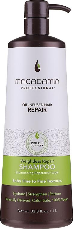 Regenerierendes Haarshampoo - Macadamia Professional Weightless Repair Shampoo — Bild N1