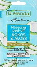 Düfte, Parfümerie und Kosmetik Peel-Off-Maske für das Gesicht mit Kokos und Aloe - Bielenda Hydra Care Face Peel Off Mask