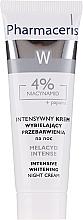 Düfte, Parfümerie und Kosmetik Intensiv aufhellende Nachtcreme mit 4% Niacinamid - Pharmaceris Melacyd Intense Whitening Night Face Cream