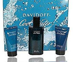 Düfte, Parfümerie und Kosmetik Davidoff Cool Water - Duftset (Eau de Toilette 75ml + Duschgel 50ml + After Shave Balsam 50ml)