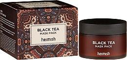 Düfte, Parfümerie und Kosmetik Beruhigende und kühlende Gesichtsmaske mit schwarzem Tee - Heimish Black Tea Mask Pack