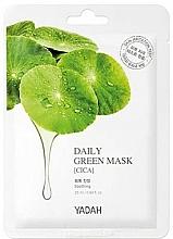 Düfte, Parfümerie und Kosmetik Beruhigende Tuchmaske mit Wassernebel-Extrakt - Yadah Daily Green Mask Cica