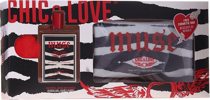 Chic&Love Muse - Duftset (Eau de Toilette 100ml + Kosmetiktasche) — Bild N1