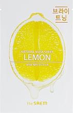 Düfte, Parfümerie und Kosmetik Natürliche Tuchmaske für das Gesicht mit Zitrone - The Saem Natural Lemon Mask Sheet