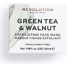 Düfte, Parfümerie und Kosmetik Peeling-Maske für das Gesicht mit grünem Tee und Walnüssen - Makeup Revolution Green Tea & Walnut Exfoliating Face Mask