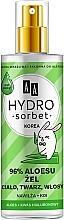 Düfte, Parfümerie und Kosmetik Gesichts-, Körper- und Haargel mit 96% Aloe Vera - AA Hydro Sorbet Gel (in Sprayform)