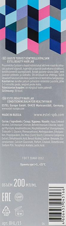 Feuchtigkeitsspendender Haarbalsam für leichtere Kämmbarkeit - Estel Beauty Hair Lab 12 Regular Prophylactic — Bild N3