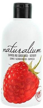Shampoo und Haarspülung mit Himbeerduft - Naturalium Shampoo And Conditioner Raspberry — Bild N1