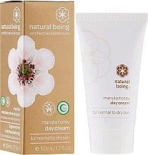 Düfte, Parfümerie und Kosmetik Tagescreme für normale und trockene Haut mit Honig - Natural Being Manuka Honey Day Cream