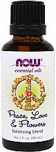 Düfte, Parfümerie und Kosmetik Beruhigende und ausgleichende Mischung aus ätherischen Ölen - Now Foods Essential Oils Peace-Love & Flowers Balancing Blend