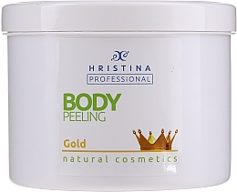 Düfte, Parfümerie und Kosmetik Körperpeeling mit Goldpartikeln - Hristina Professional Gold Body Peeling