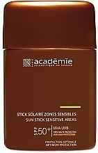 Düfte, Parfümerie und Kosmetik Sonnenschutz-Stift für besonders empfindliche Körperpartien LSF 50 - Academie Sun Stick Sensitive Areas SPF 50+