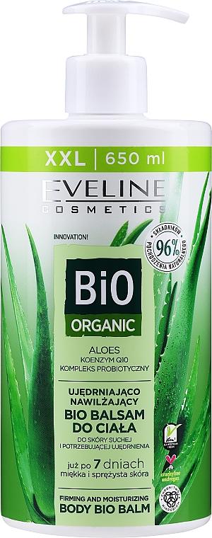 Straffender und feuchtigkeitsspendender Bio Körperbalsam mit Aloe Vera für trockene Haut - Eveline Cosmetics Bio Organic Firming & Moisturizing Body Bio Balm Aloe Vera — Bild N1