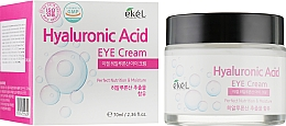 Düfte, Parfümerie und Kosmetik Nährende und feuchtigkeitsspendende Augenkonturcreme mit Hyaluronsäure - Ekel Hyaluronic Acid Eye Cream