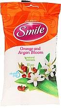 Düfte, Parfümerie und Kosmetik Feuchttücher Orangen- und Arganblüten 15 St. - Smile Ukraine