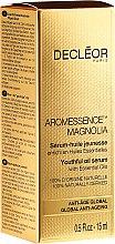 Düfte, Parfümerie und Kosmetik Gesichtsserum mit Magnolienöl - Decleor Aromessence Magnolia Youthful Oil Serum