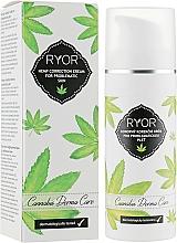 Düfte, Parfümerie und Kosmetik Feuchtigkeitsspendende und korrigierende Gesichtscreme mit Cannabidiol für Problemhaut - Ryor Cannabis Derma Care Corrective Hemp Cream For Skins To Pro