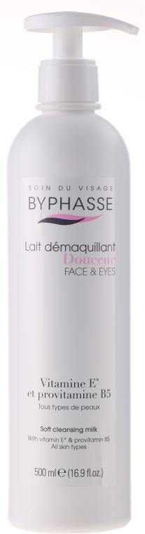 Sanfte Reinigungsmilch für Gesicht und Augen, für alle Hauttypen (Spender) - Byphasse Soft Cleansing Milk Face & Eyes All Skin Types  — Bild N1