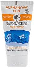 Düfte, Parfümerie und Kosmetik Sonnenschutzcreme für empfindliche und reaktive Haut SPF 50 - Alphanova Sun SPF 50 Sans Parfum Bio
