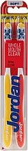 Düfte, Parfümerie und Kosmetik Zahnbürste weich Total Clean rot, gelb 2 St. - Jordan Total Clean Soft