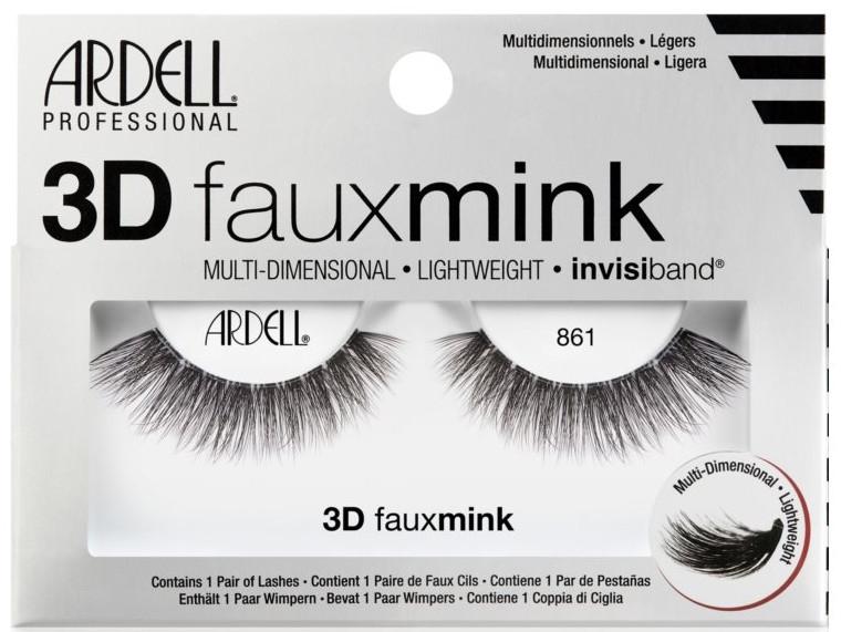 Künstliche Wimpern - Ardell 3D Faux Mink 861 — Bild N1