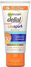 Düfte, Parfümerie und Kosmetik Sonnenschutzcreme für Körper und Gesicht Sport SPF 30 - Garnier Delial Ambre Solaire Sport UV Sunscreen SPF30