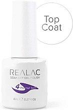 Düfte, Parfümerie und Kosmetik Soak Off Versiegelungsgel - Realac Top Coat