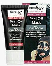 Düfte, Parfümerie und Kosmetik Peel-Off Maske mit Aktivkohle - Derma V10 Deep Cleansing Peel Off Charcoal Mask