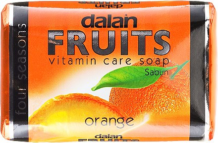 Seife mit Orangenextrakt und Vitaminen - Dalan Fruits Vitamin Care Soap Orange — Bild N1