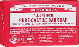 Düfte, Parfümerie und Kosmetik Natürliche Seife Rose - Dr. Bronner's Pure Castile Bar Soap Rose