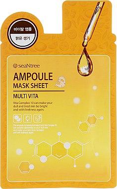 Gesichtsampulle mit Frucht-Extrakt gegen strapazierte und müde Haut - Seantree Mask Sheet Multi Vita Ampoule