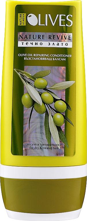 Regenerierende Haarspülung mit Olivenöl für trockenes und behandeltes Haar - Nature of Agiva Olives Repairing Moisturizing Conditioner — Bild N1